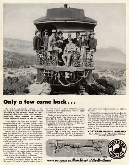 Northern Pacific Railway Company's Northern Pacific Railway – Only a few came back... (1952)