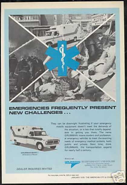Grumman Mark I Ambulance Rescue Truck Vehicle (1976)