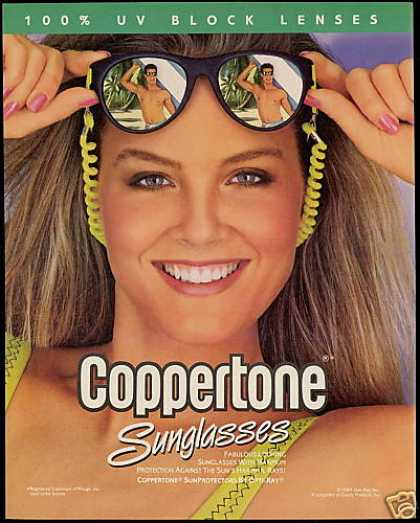 Coppertone Opti-Ray Sunglasses Pretty Woman (1989)