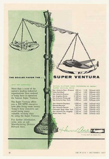 Howard Aero Super Ventura Airplane Scales Favor (1957)