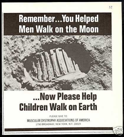 Muscular Dystrophy America Moon Astronaut (1971)
