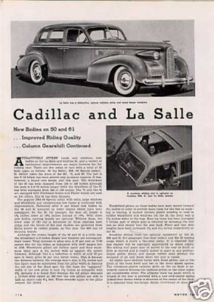 """Cadillac and Lasalle"" Article (1938)"