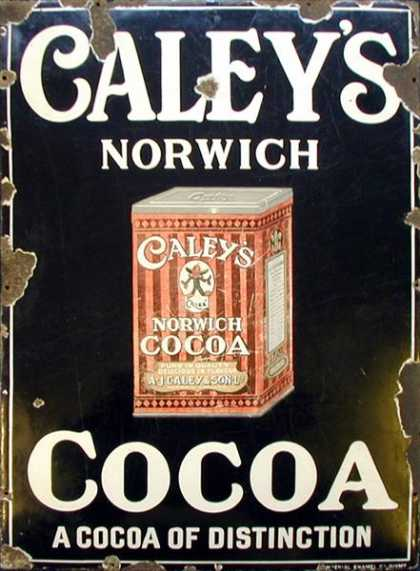 Caley's Cocoa Enamel Sign