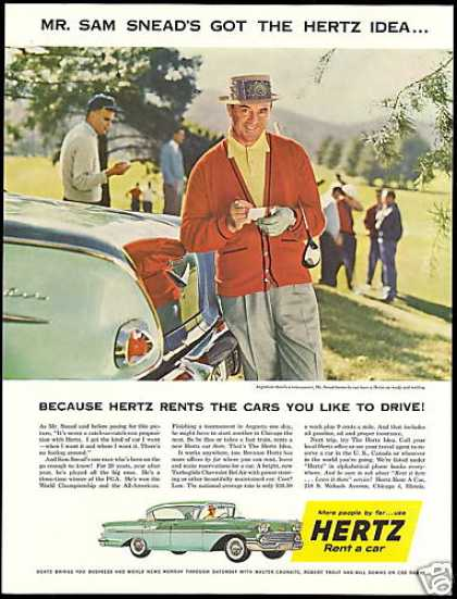 Hertz Rent A Car Chevrolet Sam Snead Golf (1958)