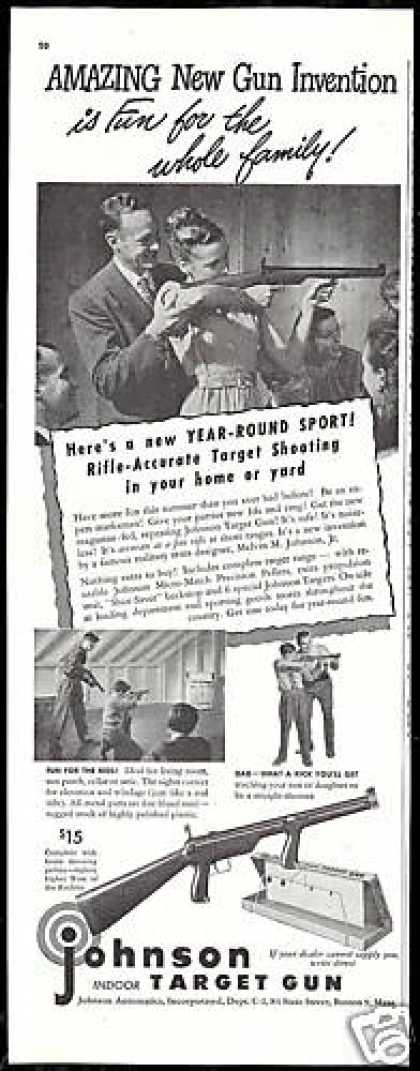 Johnson Indoor Target Gun Photo Vintage (1947)
