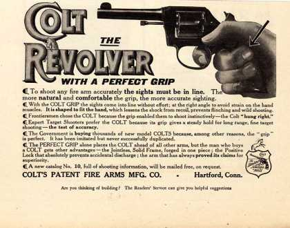 Colt's The Revolver with a Perfect Grip (1910)