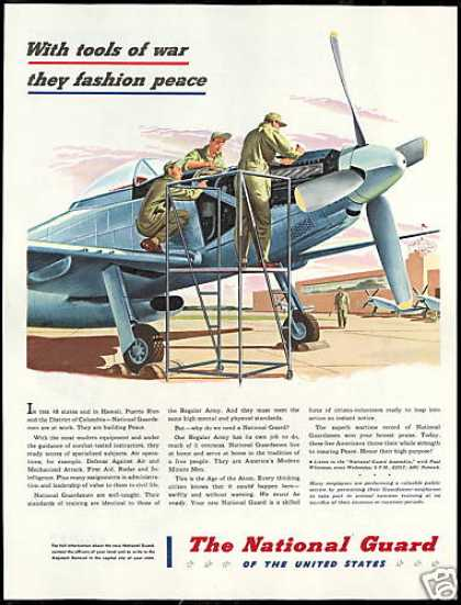 U.S US National Guard Plane Recruitment Vintage (1947)