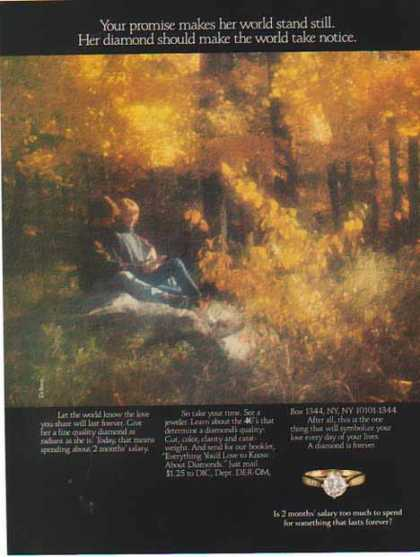 DeBeers Diamonds – Fall Forest Scene (1986)