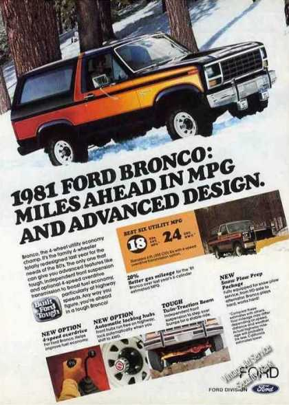 "Ford Bronco ""Miles Ahead In Mpg"" Truck (1981)"