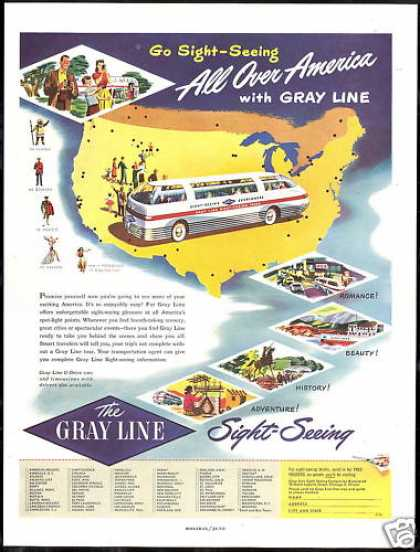 Gray Line Bus Sight Seeing America Tours (1948)