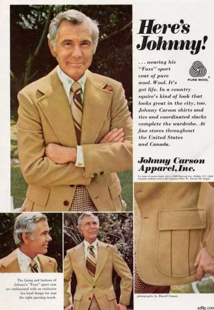 Johnny Carson Apparel (1973)