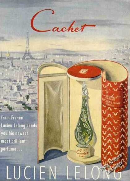 Cachet From France By Lucien Lelong Perfume (1949)