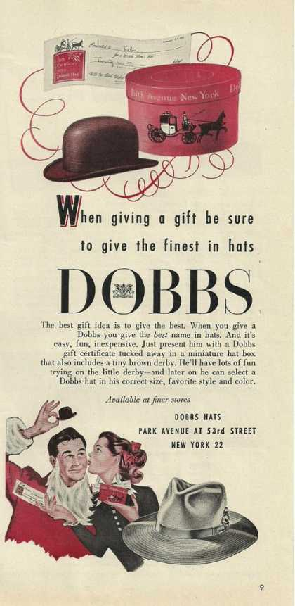 Dobbs Finest Hats for Menprint (1946)