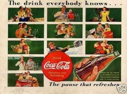 "Coca-cola Color Ad ""The Drink Everybody Knows... (1939)"