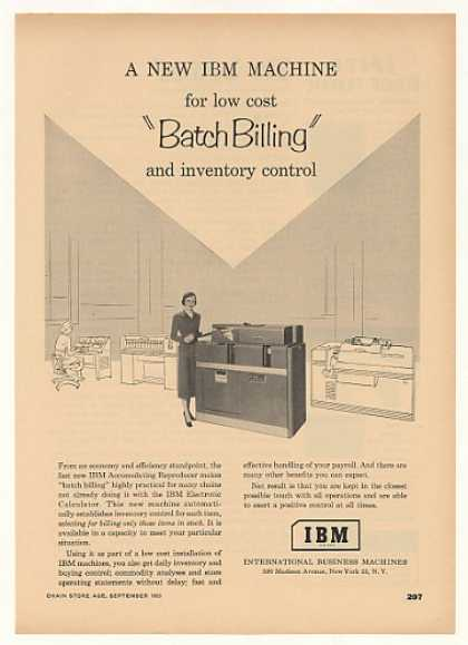 IBM Accumulating Reproducer Batch Billing (1953)