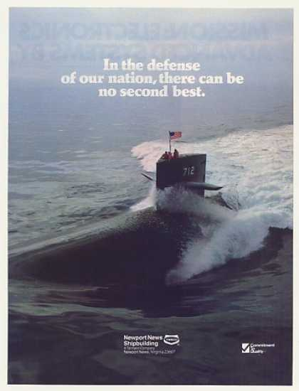 USS Atlanta 712 Sub Newport News Photo (1985)