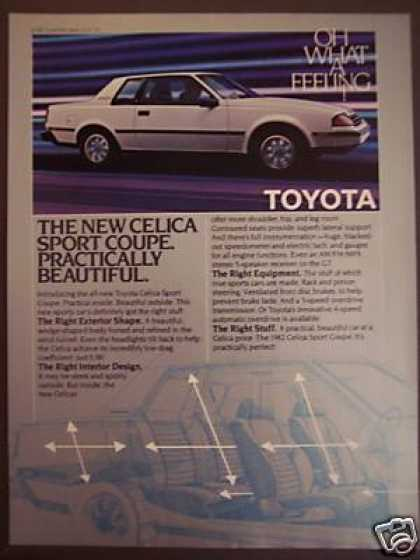 Toyota Celica Sport Coupe Car (1982)