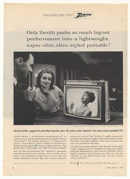 Zenith Jetliner Model L-2155 Portable TV (1963)