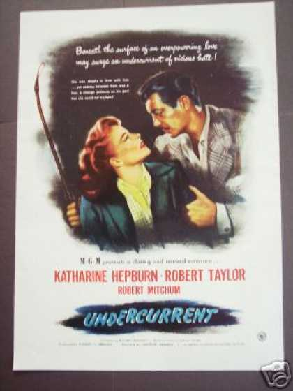 Movie Ad Undercurrent Katharine Hepburn Rob Taylor (1946)