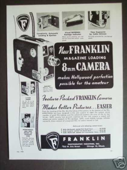 Franklin Magazine Loading Movie Camera (1948)