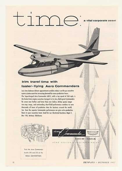 Aero Commander 680-S Airplane Aircraft (1957)