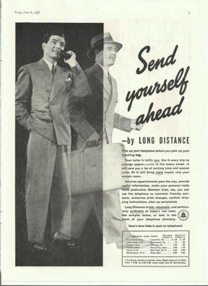 Bell Telephone Long Distance Service (1938)