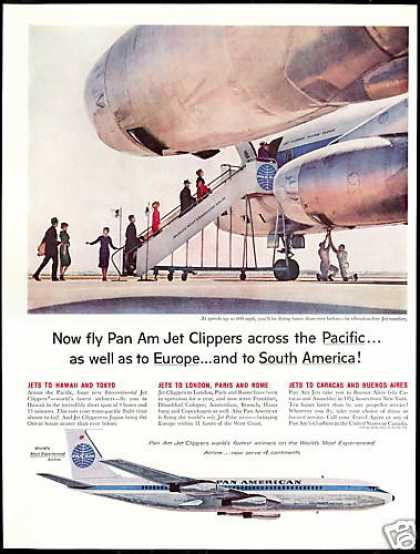 Pan Am Airlines Jet Clipper Flying Cloud (1959)