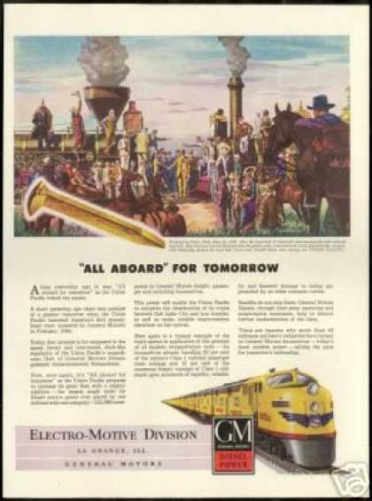 GM Locomotive Train Union Pacific Sudaka Art (1947)