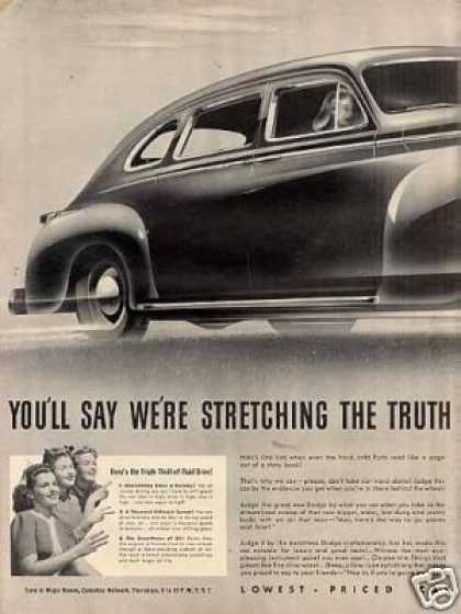 Dodge Luxury Liner Car Ad 2 Page (1941)