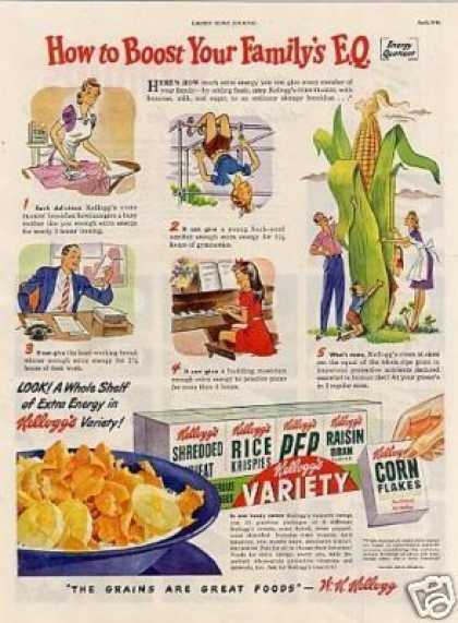 "Kellogg's Variety Cereal Ad ""How To Boost... (1946)"