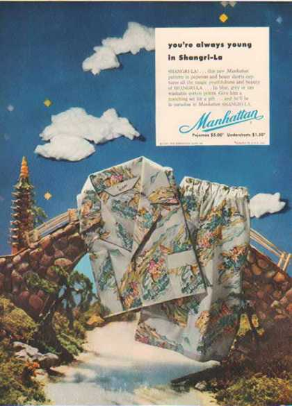 Manhattan Shirt Company – Shangri-La Pajamas – Sold (1952)