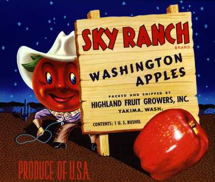 Sky Ranch Apples, c. 			s (1950)