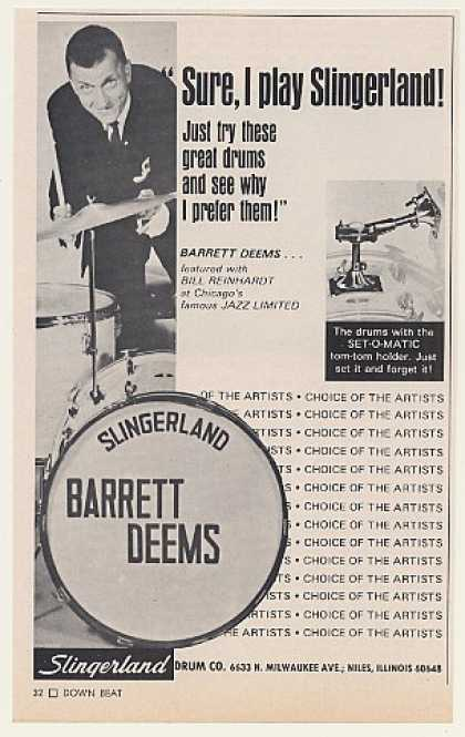 Barrett Deems Slingerland Drums Photo (1970)