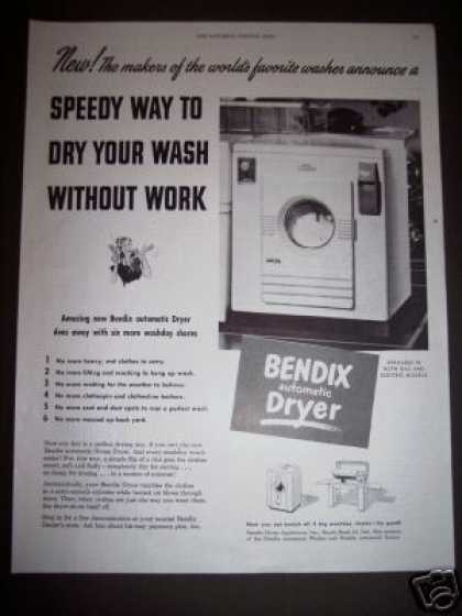 Original Bendix Automatic Clothes Dryer (1948)