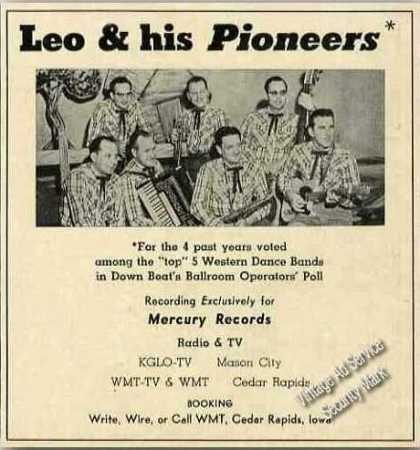 Leo & His Pioneers Western Dance Band Booking (1957)