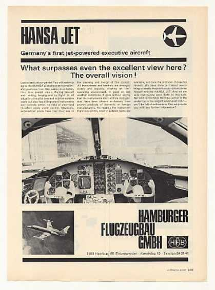 HFB Hansa Executive Jet Aircraft Photo (1967)