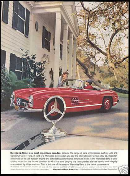 Mercedes Benz 300 SL Roadster Car Vintage (1959)