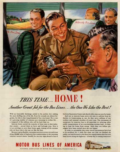 Motor Bus Lines of America – This Time...Home (1945)
