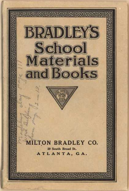 Milton Bradley Co.'s School Materials/Books – Bradley's School Materials ... (1919)