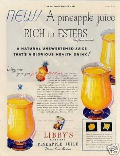 Libby's Pineapple Juice (1933)