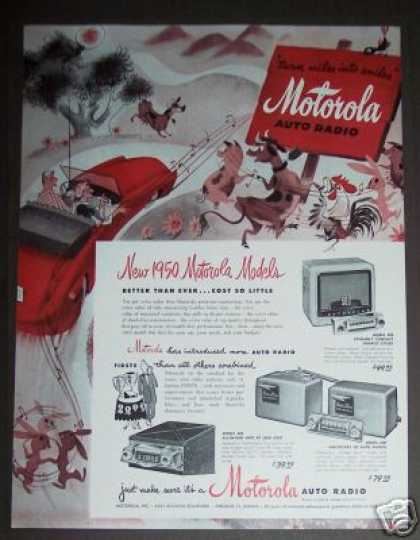 Motorola Auto Car Radio Models 500, 800, 400 (1950)