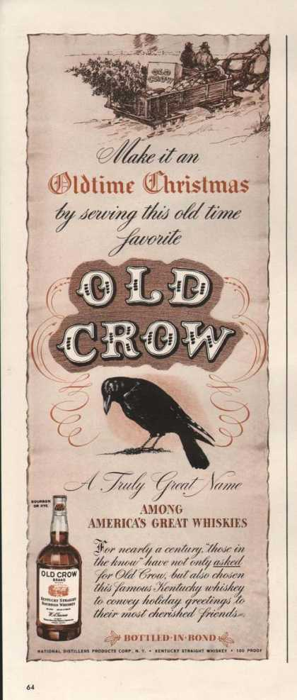 Oldtime Christmas Old Crow Whisky (1942)