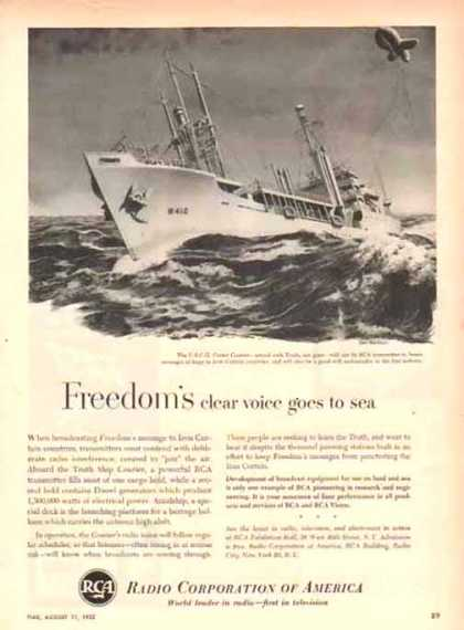 RCA Corporation of America – U.S.C.G. Cutter Courier – Sold (1952)
