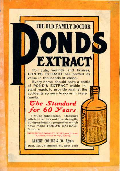 Pond's Extract Co.'s Pond's Extract – The Old Family Doctor. Pond's Extract (1907)