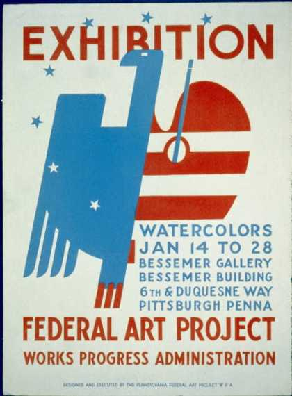 Exhibition [of] watercolors. (1936)