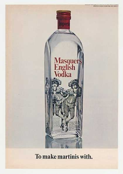 Masquers English Vodka Bottle Photo (1968)