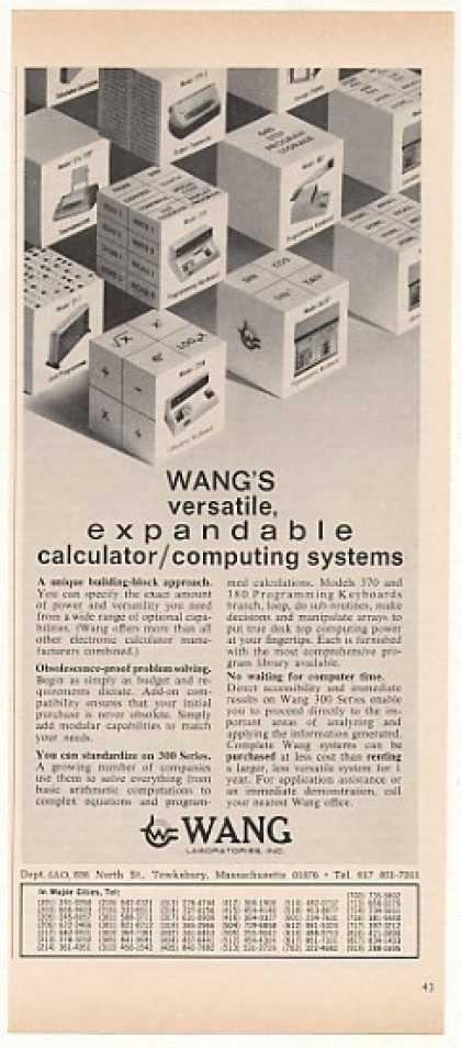 Wang 300 Series Calculator Computer Systems (1968)