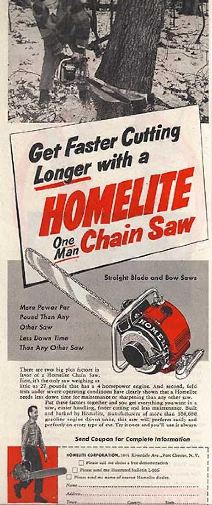 Homelite's One Man Chain Saw (1952)