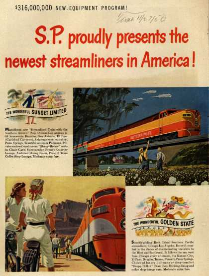 Southern Pacific's Streamliners – S.P. proudly presents the newest streamliners in America (1950)