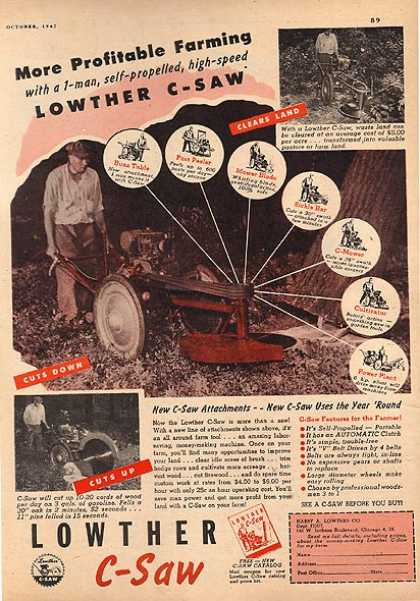 Lowther's C-Saw – More profitable farming (1947)